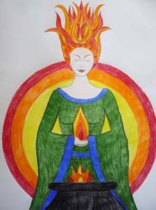 Fire of Brighde ©Joanna van der Hoeven 2014